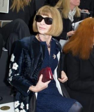 Anna Wintour na letošní přehlídce Chanel