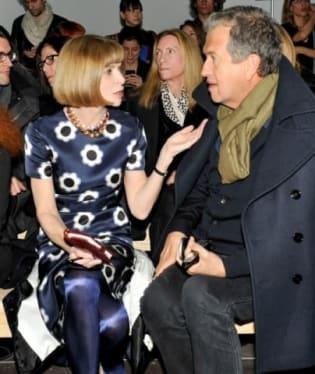 Anna Wintour a módní návrhář Mario Testino