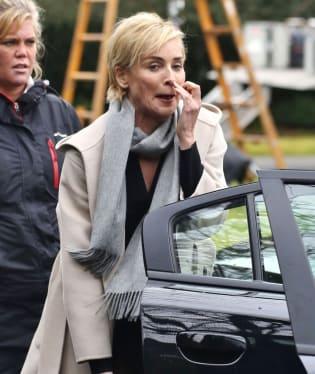 Herečka Sharon Stone přistižena ve Vancouveru...