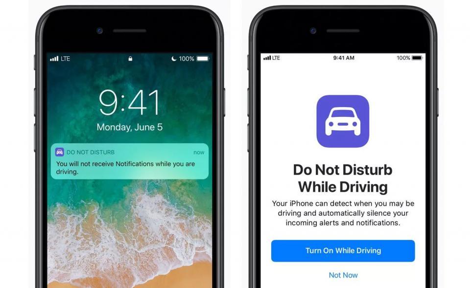 Speciální jízdní režim iPhonů zabrání rušení řidiče.