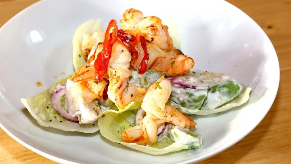 Grilované krevety s chilli