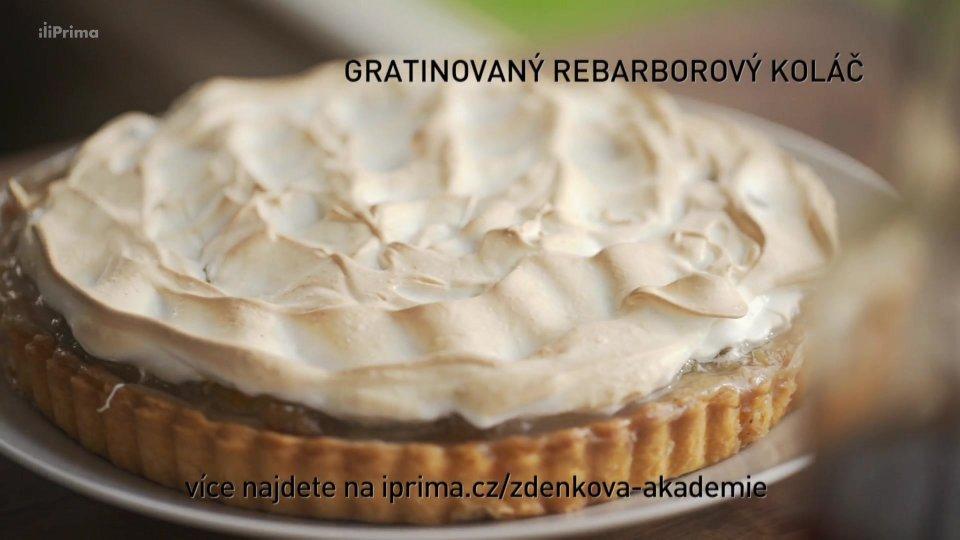 Gratinovaný rebarborový koláč