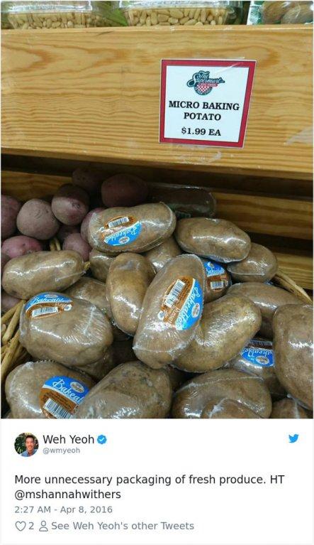 Jednotlivě balené brambory, to chceš!