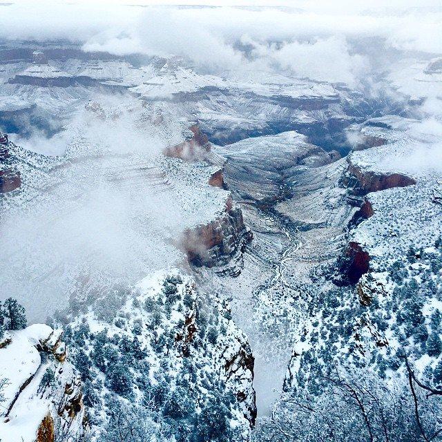 Grand Canyon a jeho nejkrásnější zimní fotografie - Obrázek 30