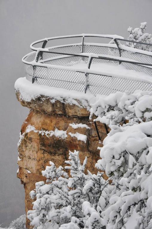 Grand Canyon a jeho nejkrásnější zimní fotografie - Obrázek 11