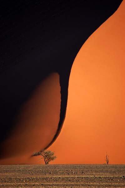 Písečné duny v Namibii