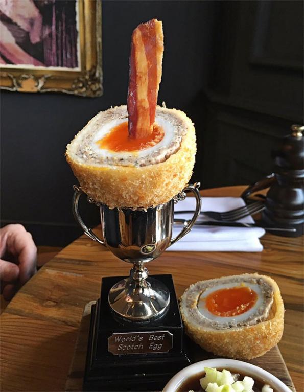 Nejlepší skotské vejce přijde rovnou jako trofej