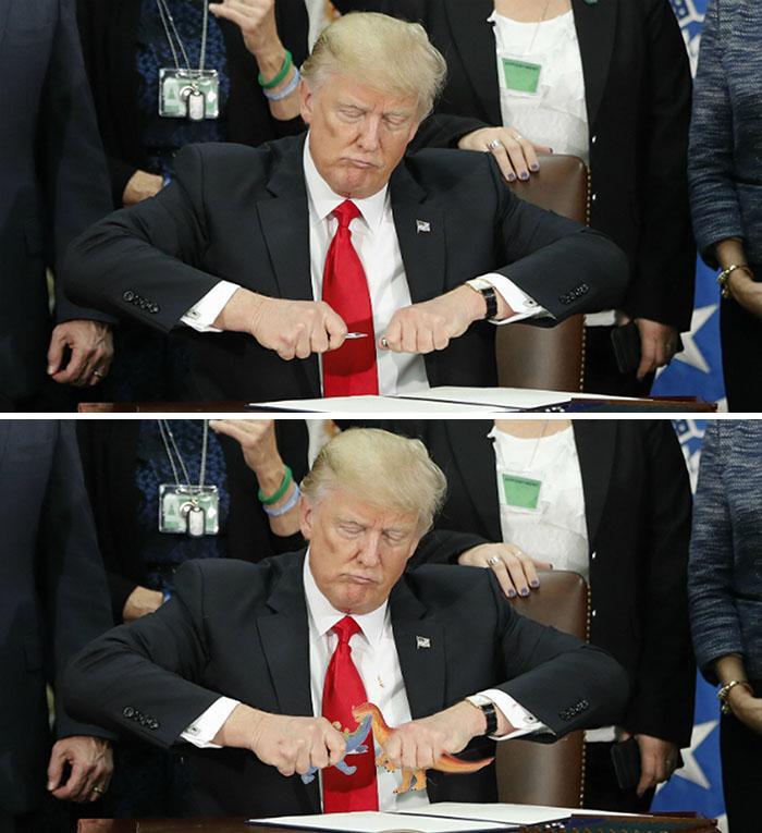 Trump se snaží zavřít pero