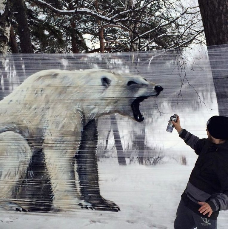 Úžasné lesní graffiti 2