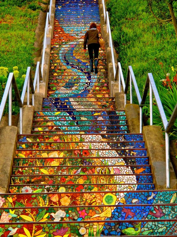 16 Avenue Tiled Steps in San Francisco