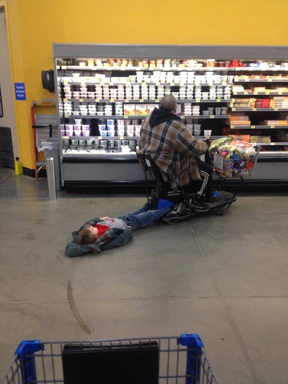 Supermarket může být i skvělým místem odpočinku.