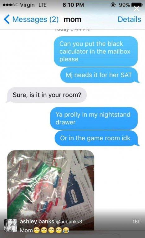 Zábavná konverzace matky s dcerou.