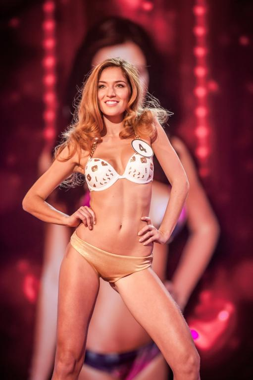 Česká Miss 2016 Andrea Bezděková v průběhu soutěže.