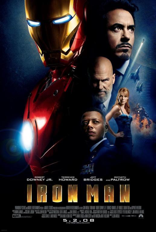 Iron Man (2008) - Nezodpovědný miliardář Tony Stark se snaží zastavit nelegální prodej vlastních zbraní. Vtipkování mu k tomu ale stačit nebude, a tak si postaví supermoderní železný oblek. Iron Man je na světě!