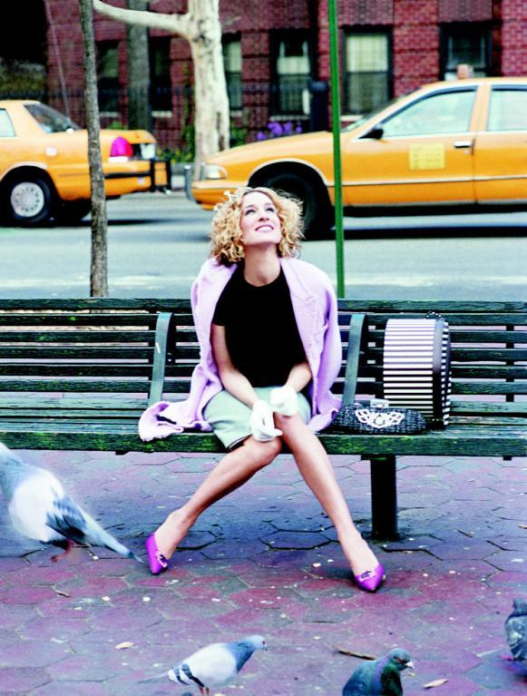 Sex ve městě - na lavičce