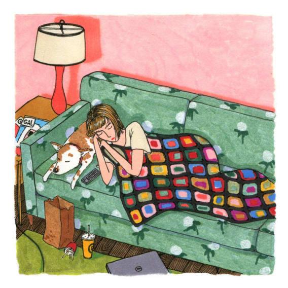 Ilustrace zobrazující skutečný život žen 10