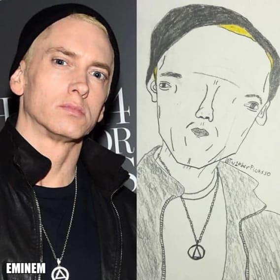 Umělec kreslí karikatury celebrit 5