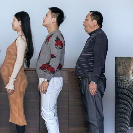 Rodinná proměna po cvičení foto