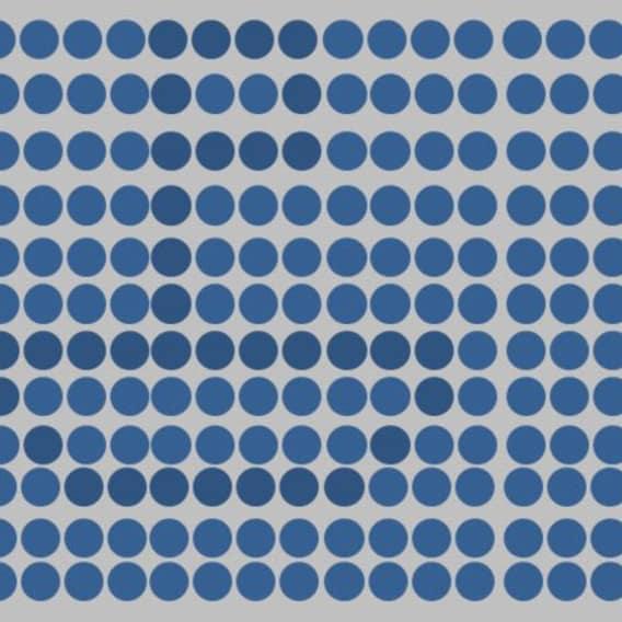 Optický test - modré tečky