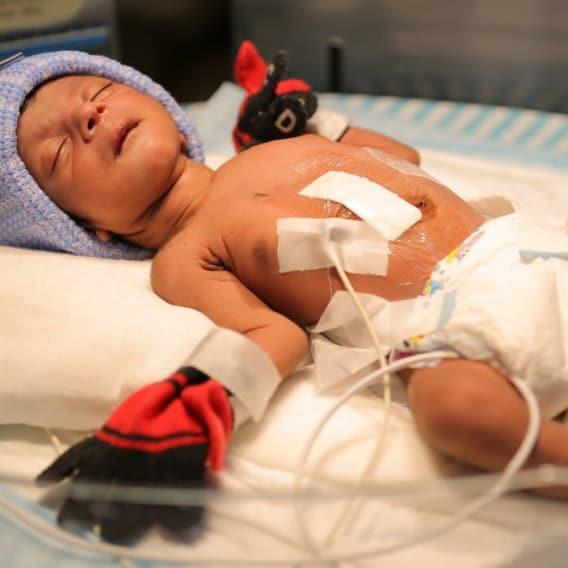 Chlapec po operaci