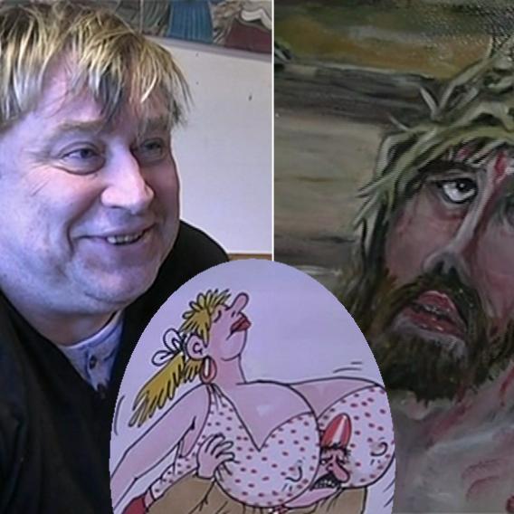 Video VIP zprávy: Kreslíř Urban namaloval Křížovou cestu - a Pivrncovu stezku!