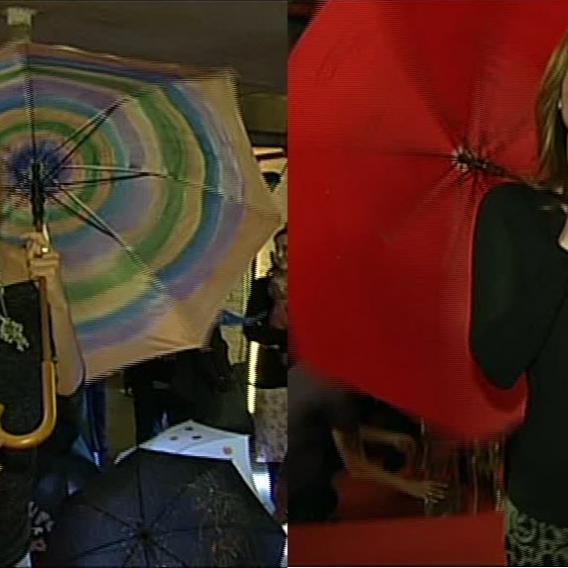 Video VIP zprávy: Klára Doležalová, Renata Dresslerová a jejich vlastnoručně vyrobené deštníky