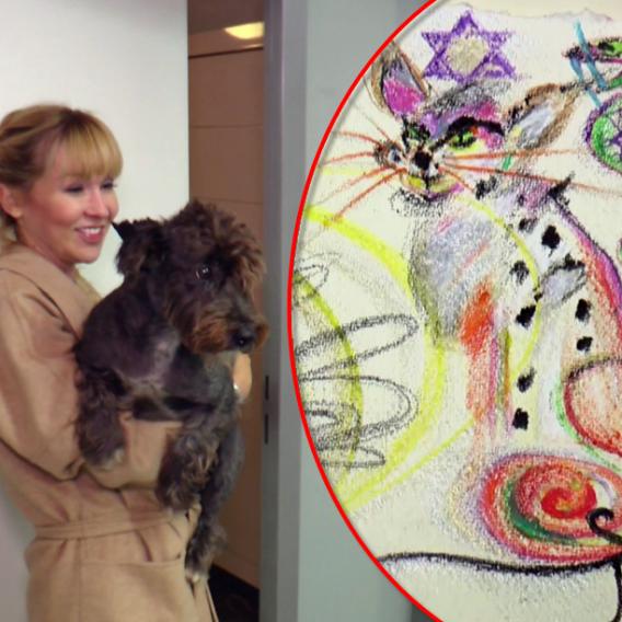 Herečka Kateřina Hrachovcová se pustila do ezoteriky a začala malovat automatickou kresbou