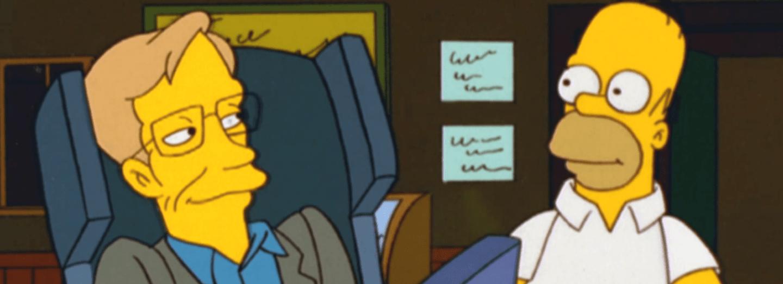 Stephen Hawking a Homer Simpson na pivku