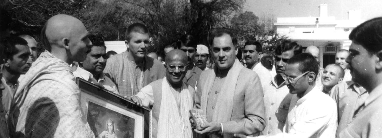 Gándhí a rušští členové Hare Krišna