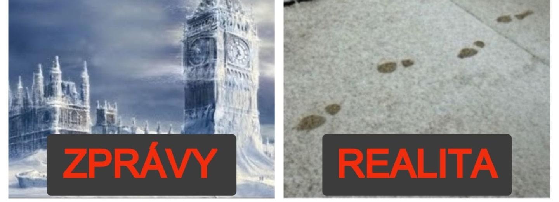 Nejvtipnější reakce na sněhovou paniku v Londýně