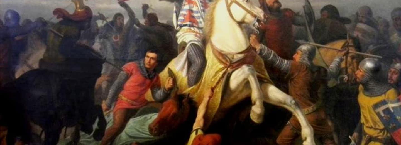 Poslední boj jana Lucemburského na obraze od Antonína Viktora Barvitia