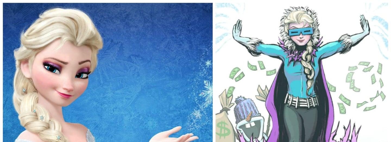 Elsa z Ledového království jako Captain Cold