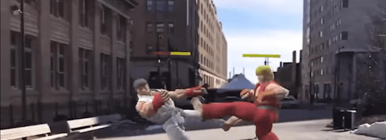 Street Fighter 2 v rozšířené realitě