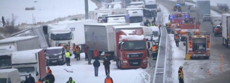 Hromadná nehoda na dálnice D1