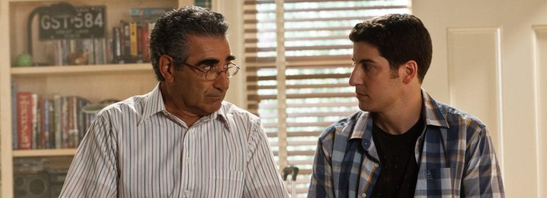 Eugene Levy jako Jimův táta v série Prci, prci, prcičky.
