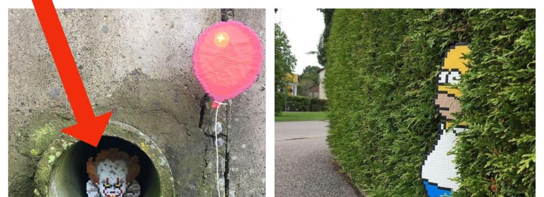 Nápadity pixel art v ulicích
