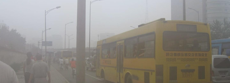 Děsivý smog v Pekingu