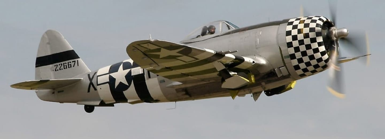 Dosud létající Republic P-47D Thunderbolt