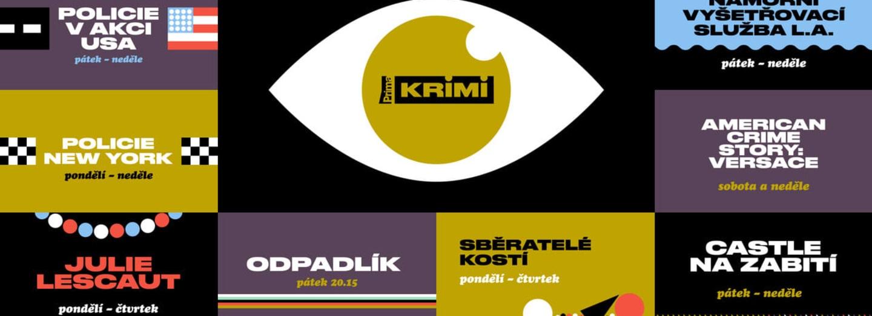 Hlavní grafický motiv kanálu Prima KRIMI je oko, které je neustále zvídavé a pátrající.