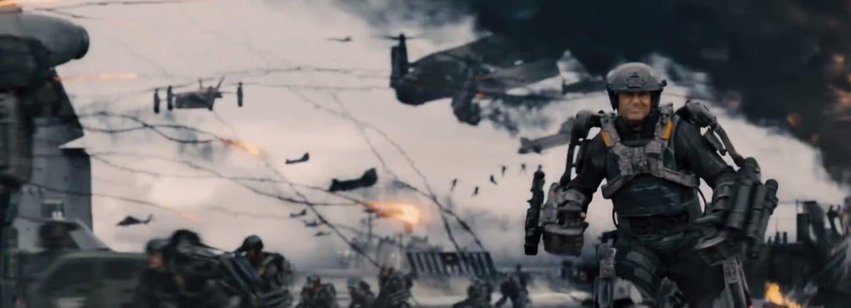Exoskelet Toma Cruise ve filmu Na hraně zítřka