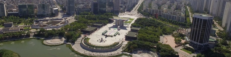Korea z výšky