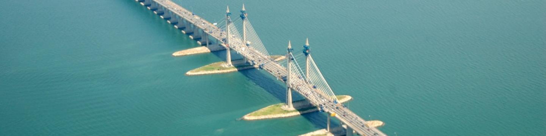 Stavba penangského mostu