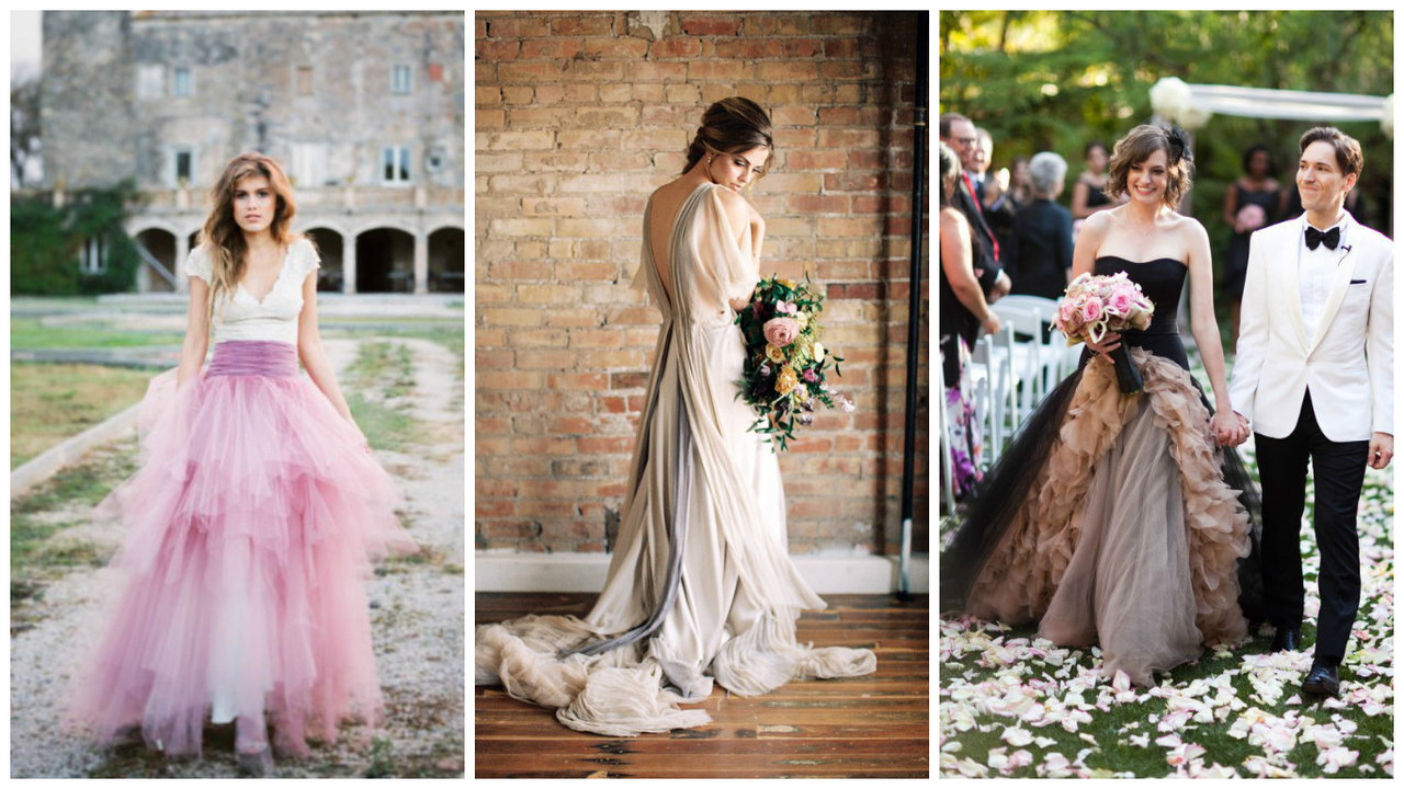 Galerie těch nejkrásnějších svatebních šatů! Ani jedny nejsou bílé ... a20d5c5590