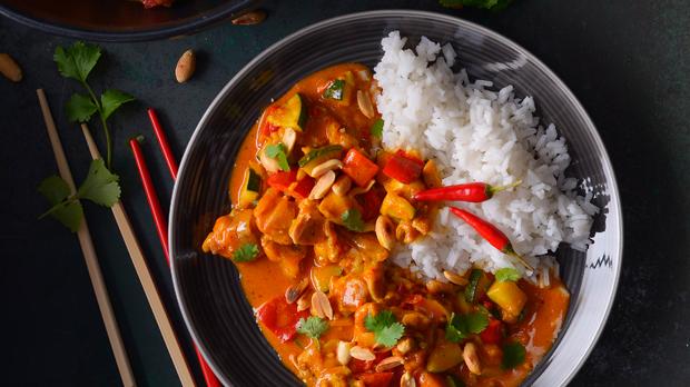 Thajské kuřecí kari scuketou